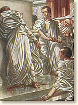 why was julius caesar murdered Julius caesar, his strawberry blonde hair teased and coiffed, a cigar in  but of  course, caesar does go, where he is murdered at the hands of.