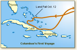 an effect of the voyages of columbus was that