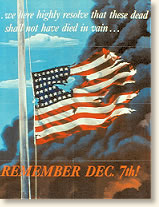 World War 2 Era Poster (1942) Commemorating the Attack on Pearl Harbor