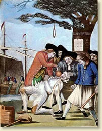 Colonialists Attack Tar And Feather A Hapless Tax Collector