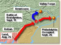 the british attack philadelphia from the chesapeake bay